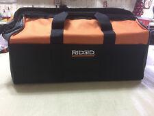 Brand New Ridgid 22 X 10  X 13 Large Heavy Duty 5pc 6 Pocket Contractor Tool Bag