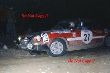 Pons & Boeri Jolly Club Fiat 124 Araña San Remo Rally 1972 fotografía 1