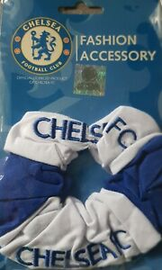 Chelsea Football Club Embroidered HAIR Tie SCRUNCHIE SCRUNCHY BOBBLE Official
