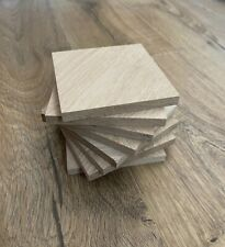 Oak Timber Offcuts Squares 8 Pieces @ 104mm x 104mm x 10mm (European Oak)