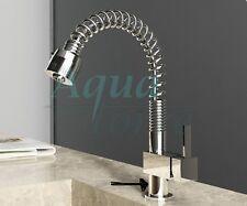 Modern Pull Out Spray Chrome Kitchen Sink Mixer Tap - (476)