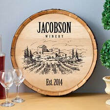 Personalized Wine Barrel Sign - Rustic Wood - 7 Designs To Choose From
