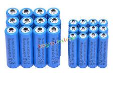 12 +12 X AA AAA rechargeable batterie1800mAh 3000mAh 1.2V Bleu pile