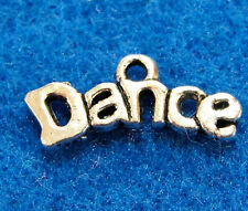 "10Pcs. Tibetan Silver ""DANCE"" Word Charms Pendants Drops Jewelry Findings WS49"