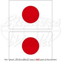 "JAPAN Japanese Flag HINOMARU  Vinyl Bumper Stickers, Decals 75mm (3"") x2"