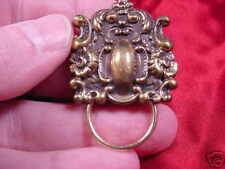 (#E-401) Victorian Eyeglass BRASS pin pendant ID badge holder