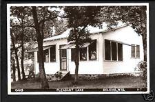 Coloma Wisconsin 40s RPPC Oaks Cabin Pleasant Lake WI