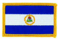 FLAG PATCH PATCHES Nicaragua  IRON ON COUNTRY EMBROIDERED WORLD FLAG