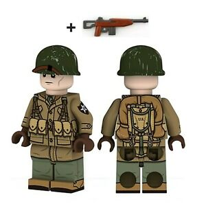 Lego WW2 Bataille de Normandie Soldats Americain Militaire Minifigure armée toy