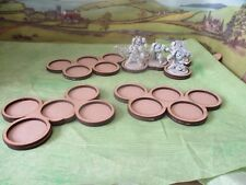 4 Skirmish Movement Trays 5x40mm Round Bases Wargames Cloud Olympic Ring Design