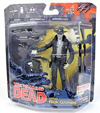The Walking Dead Comic Series Black & White OFFICER RICK GRIMES Figure McFarlane