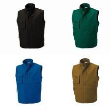 Manteaux et vestes en mélange coton et polyester sans manches pour homme