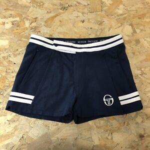 Mens Vintage Sergio Tacchini Tennis Shorts S Small 30 Inch Waist Blue B6072