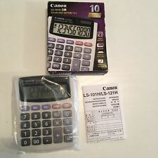 New Canon LS-101H Handheld Calculator with Extra Large 10 Digit Display Solar