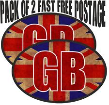 Union Jack GB Retro Look Van Car Camper Decal Motorcycle Caravan Sticker 2 Pack