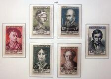 Série timbres France neufs 1957 ** - personnages - YT 1108 à 1113