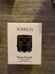 Rokinon 75mm F1.8 Auto Focus Compact Full Frame Lens for Sony E #IO75AF-E