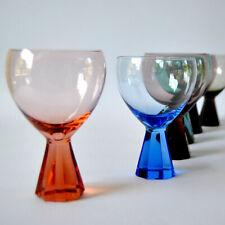 6 FRIEDRICH Kristall WEIN-GLÄSER, 50er Jahre