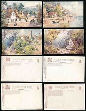 ISLE of WIGHT HANTS TUCKS OILETTE 7587 ARTIST WIMBUSH...4 CARDS