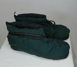 Vintage Eddie Bauer Goose Down Fill Slippers Booties Unisex Medium (W 11, M 9.5)