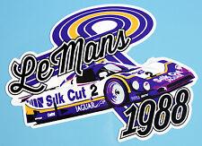 LE MANS 24 HOURS 1988 'Silk Cut Jaguar' RETRO style stickers decals x2