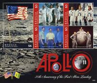 Bequia Grenadines St Vincent Stamps 2019 MNH Apollo 11 Moon Landing Space 5v M/S