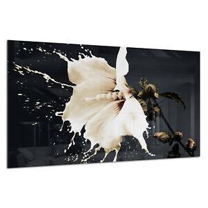 Photo Print Wall Art Picture Tempered Glass White Flower Splash Prizma GWA0316