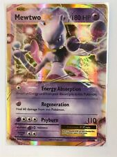 Mewtwo EX ULTRA RARE 52/108 Pokemon XY Evolutions Holo TCG Card NM
