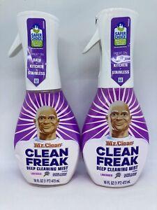 2 Mr. Clean : Clean Freak Deep Cleaning Mist 16 oz Each Lavender