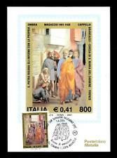 ITALIA REP. - 2001 - 6° centenario della nascita del Masaccio cu cart. maximum