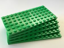 *NEW* 5 Pieces Lego BRIGHT GREEN Plate 6x12 DOTS 3028