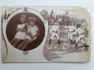 Poland photo kids girl Football soccer Polish text 1929 year