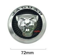 72mm Schwarz Chrom Jaguar Logo Vorne Grill Haube Motorhaube Kühlergrill Emblem