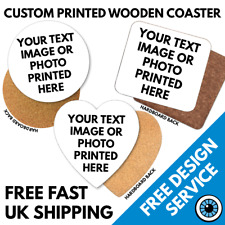 Custom Printed Coaster • Personalised Drinks Mats tea Coasters Logo Image Photo