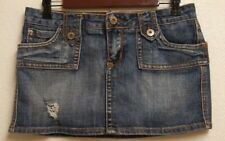 Piama Womens Denim Jean Mini Skirt  Distressed 5 Pockets