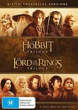 Hobbit Lord Of The Rings Trilogy DVD NEW Region 4 6-discs Theatrical Versions