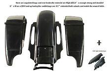 "unpainted/primer blank 4.5"" saddlebag+Rear fender+cvo lig for harley 2014 and up"