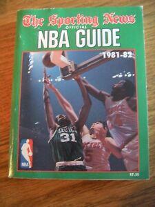 1981 - 1982 NBA SPORTING NEWS OFFICIAL NATIONAL BASKETBALL ASSOCIATION GUIDE