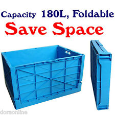 Plastic Large Folding Storage Box Case Containers Save Space
