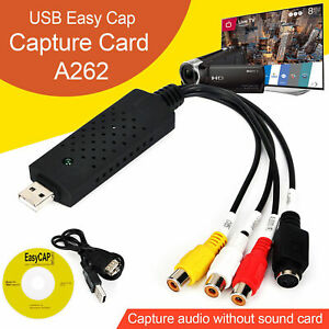 USB 2.0 VHS Tape To PC DVD Converter Video & Audio Capture Card Adapter