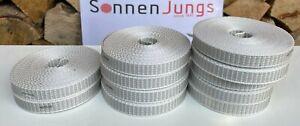 6meter Rolladen Gurt Gurtband Rollladen Band Grau 14mm für MINI Gurtwickler