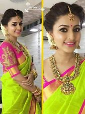 Bollywood Indian Ethnic Wedding Chanderi Cotton Parrot Saree