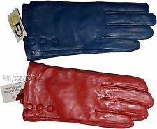 Lot of 2. Women's Leather Gloves (L) Ladies Dress warm winter Leather Gloves NWT