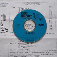 PAT BENATAR 1991 King Biscuit Flower Hour CD RADIO SHOW Live 1989 Neil Geraldo