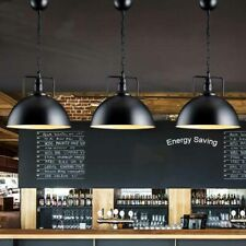 2PK Kitchen Pendant Light Industrial Metal Barn Hanging Lamp Black Fitting