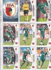 12x FC Augsburg komplett TOPPS BUNDESLIGA CHROME 2013 /2014  ALLE NEU