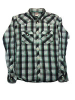 True Religion Multicolor Plaid Mens Button Front Long Sleeve Shirt Medium