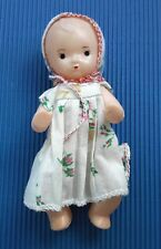 1970's-1980's Ussr Soviet Russia Small Plastic Doll Baby in Original Clothes