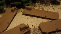 N-Scale  6 Unfinished Fishing/ Boat Docks 1:160 Model Train Detail Accessories