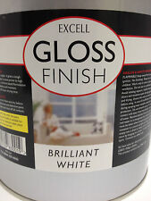 WHITE Gloss Finish Paint - 750ml Tin - Excell - Interior/Exterior Wood Or Metal